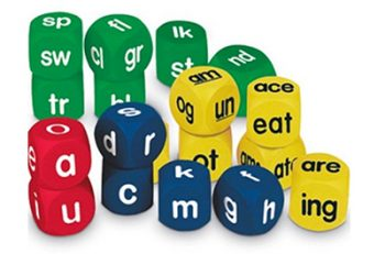 Great dice for word building! Perfect for beginning readers.