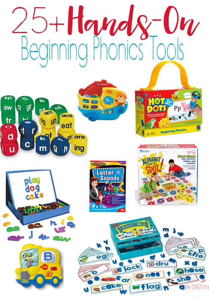 25+ Hands-on Tools for Learning Letter Sounds! Perfect for introducing phonics to new readers! Activities for preschoolers and kindergarteners who are starting to read.