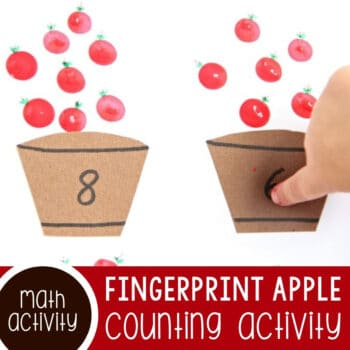 Fingerprint Apple Counting Activity for Preschoolers Featured Square Image
