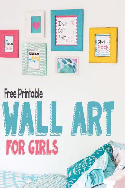 Free Printable Wall Art for Girls