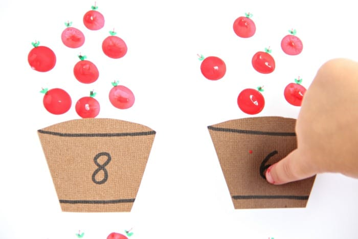 Work on finger isolation with this apple fingerprint math activity.