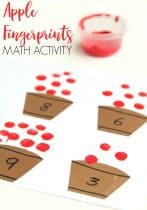Fingerprint Apple Counting Activity for Preschoolers