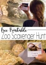 Printable Zoo Scavenger Hunt Book for Kids