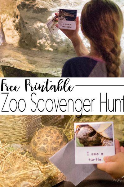 Printable Zoo Scavenger Hunt Book for Kids