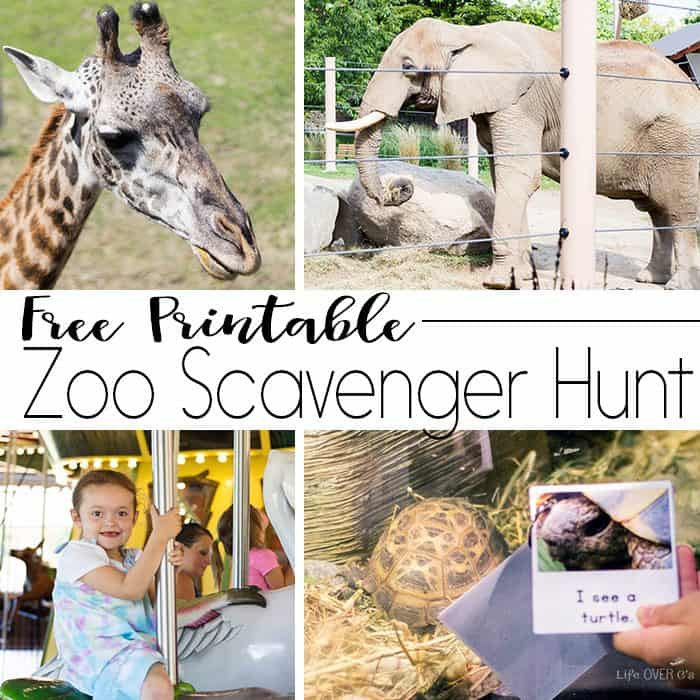 Your kids will love exploring the zoo with this free printable zoo scavenger hunt book. So many fun things to explore at the zoo!