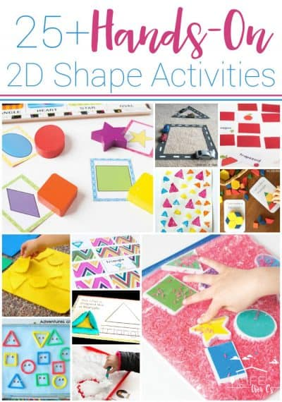 25+ Awesome Hands-On 2D Shape Activities for Kids. Games, activities, free printables, sensory activities and more for learning about 2D Shapes with your kids!