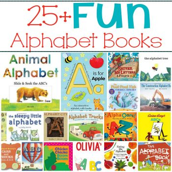25+ Fun Alphabet books that your kids will love reading! Spend some quality time reading with your children, plus they'll be learning the alphabet and won't even realize it!