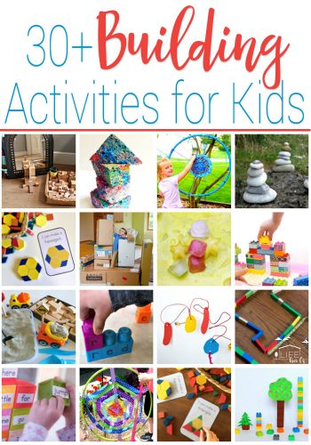 30+ Building Activities for Kids! Free printables, crafts, sensory activities and more!