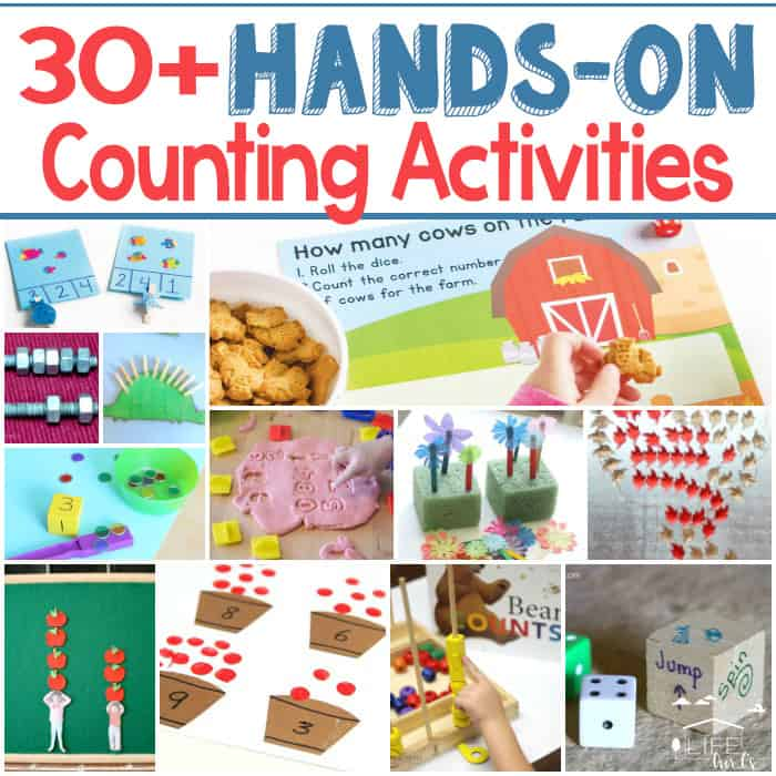 30+ Hands-on counting activities! Learn numbers while having fun!