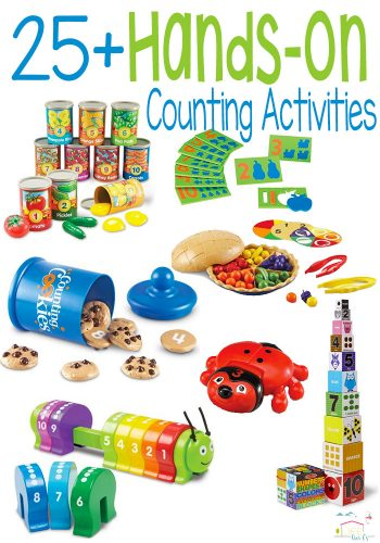 25+ hands-on counting activities for kids. Work on one-to-one correspondence with these fun toys.