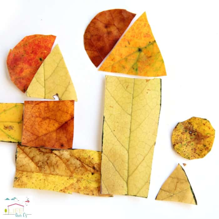 Use this fall leaves tangram activity to build skills like spatial awareness, math, and even handwriting!