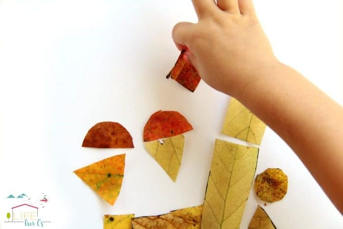 Try playing with homemade tangrams with this fall leaves tangram activity.