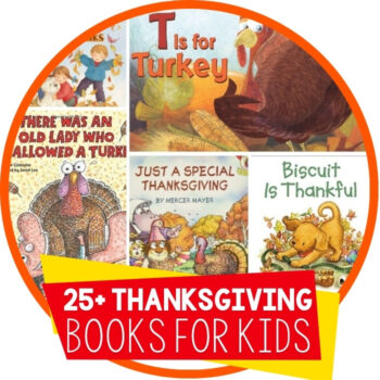 25+ Thanksgiving Books for Kids Featured Image