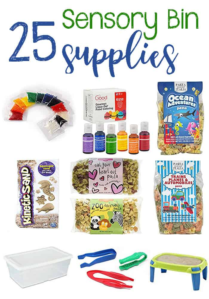 Fun Sensory Bin Supplies Your Child Will Love. These sensory bin supplies are all easy to use and will give kids a great introduction to sensory exploration.