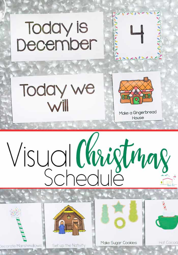 Visual Christmas Schedule for Special Needs Kids