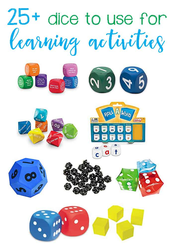 25+ Fun Dice To Use With Learning Activities For Kids