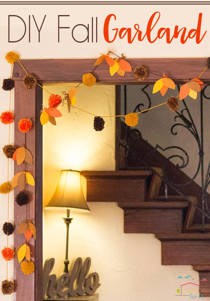 This DIY Pom Pom & Felt Fall Garland brings so much charm to the fall season!