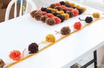 This DIY Pom Pom & Felt Fall Garland brings so much charm to the fall season!