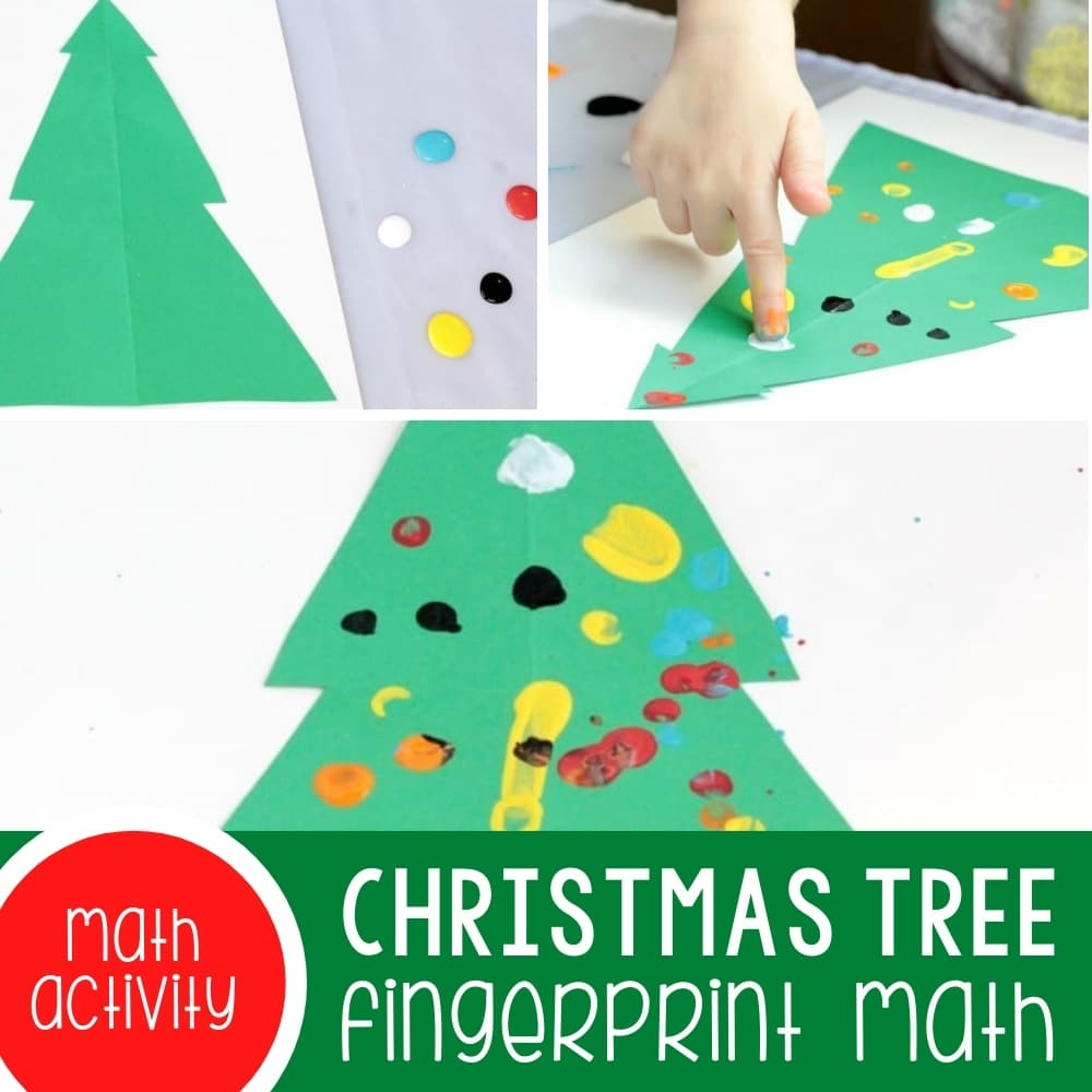 Fingerprint Christmas Tree Math: A Fun Way to Learn Count