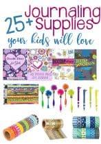 25+ Journaling Supplies Kids Will Love