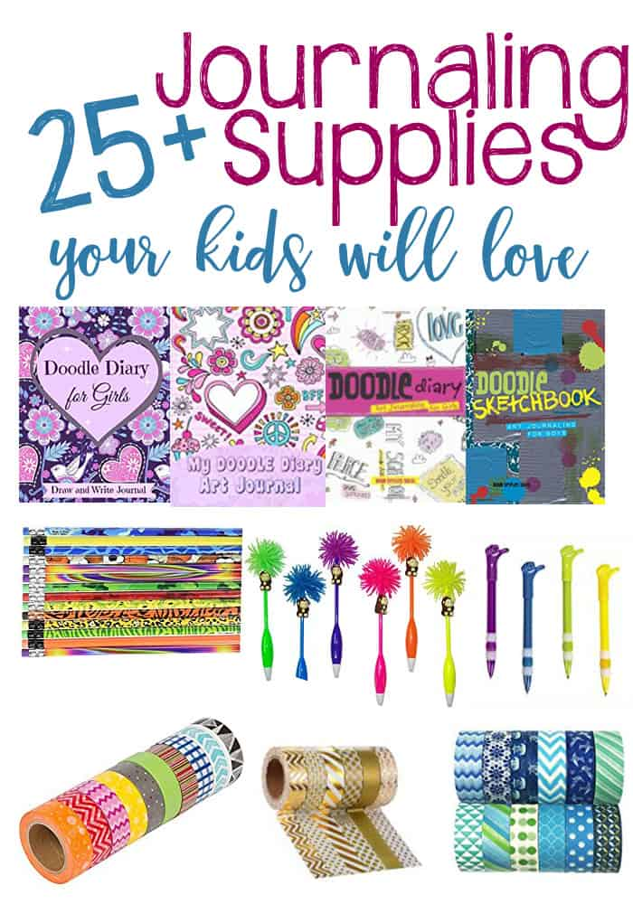 Journaling supplies kids will love! Get kids excited about writing and doodling with these inspiring journaling supplies that are perfect for kids.