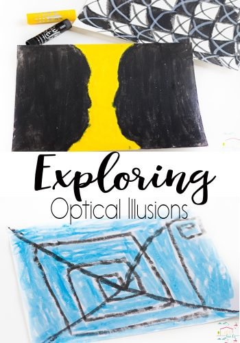 Explore optical illusions through art! Such a fun way to transform an art project into so much more! Kids will love creating their own optical illusions!
