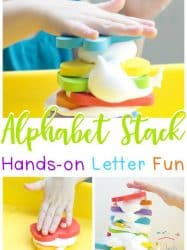 Shaving Cream Activities for Preschool: Alphabet Stack