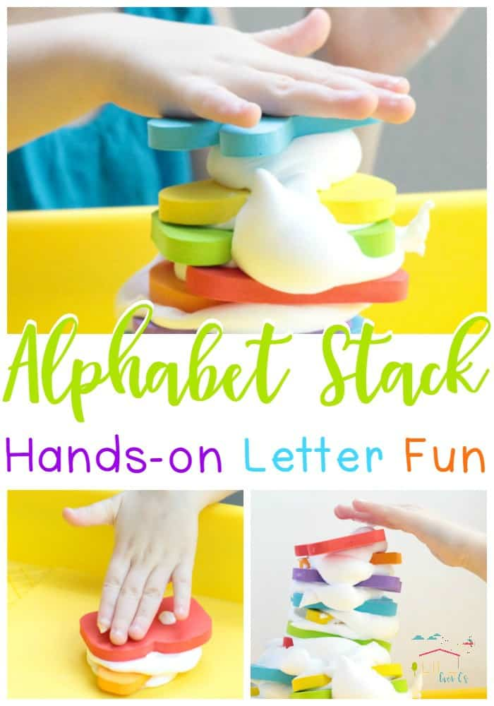 Introduce your preschooler to the alphabet with this hands-on sensory activity!