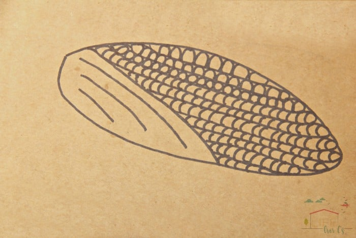 Try a harvest corn pattern math art fall activity with the kids!