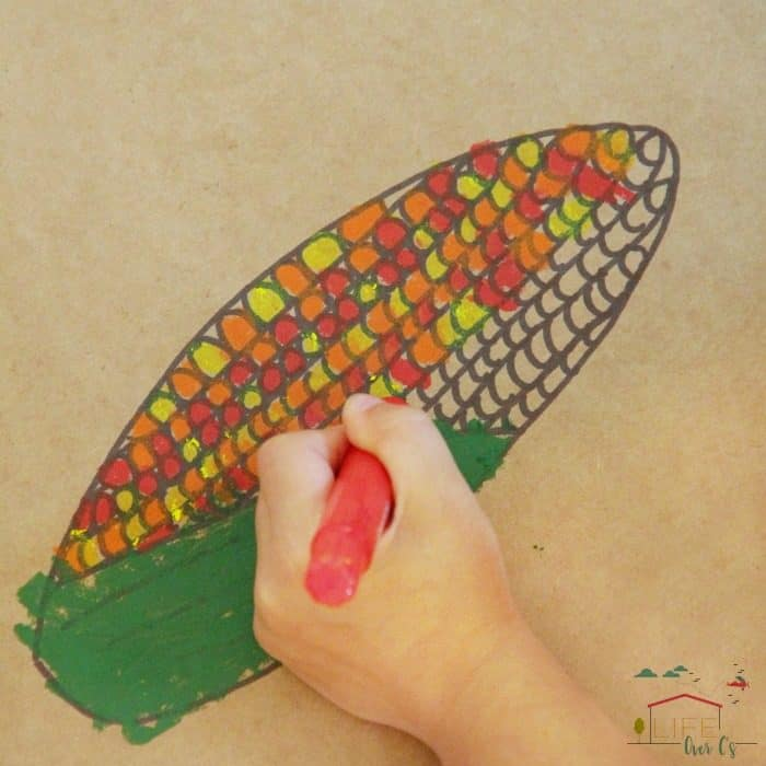 Try this Harvest Corn pattern math art activity this Fall.