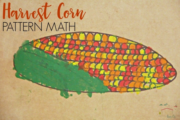A harvest corn pattern math art would be great for Fall crafts.
