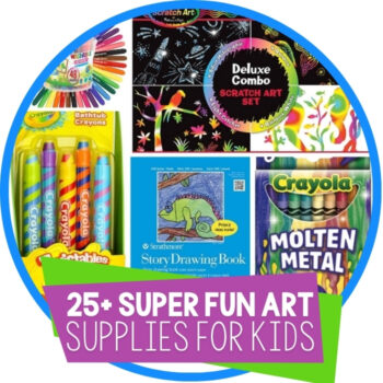 25+ Super-Fun Art Supplies for Kids Featured Image