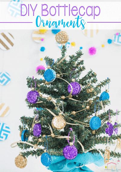 DIY Bottlecap Ornaments for Christmas