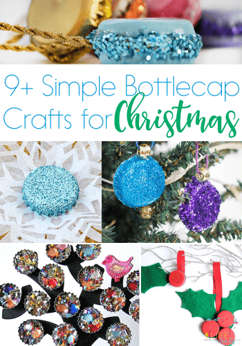 Simple bottlecap crafts for Christmas. Whether you are looking for a Christmas tree decoration or want to make a homemade toy, you are sure to find a great idea here.