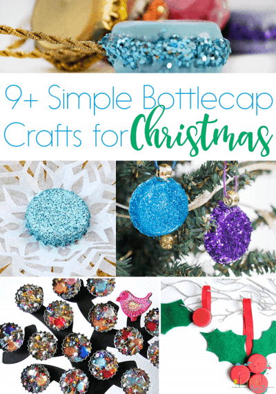 9+ Simple Bottlecap Crafts for Christmas