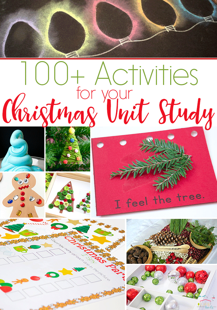 WOW! 100+ Activities and Printables to create an awesome Christmas unit study! Perfect for a Christmas theme!