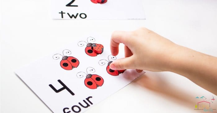 image relating to Printable Ladybug titled Ladybug Counting Playing cards for Quantities 1-10 - Lifestyle Around Cs