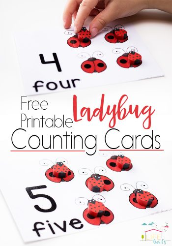 These free printable ladybug counting cards for numbers 1-10 are perfect for starting one-on-one correspondence for spring!
