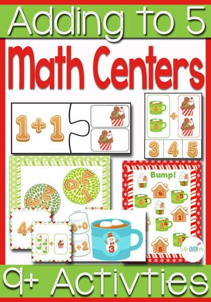 Your students will have so much fun learning addition up to 5 with these 8 math centers and 4 printable activities. There is a strong emphasis on relating the one-to-one counting concept and composing numbers up to 5.