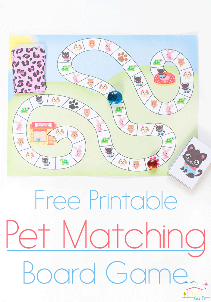 The perfect game for Littlest Pet Shop loving kids! This free printable pet matching board game is so much fun!