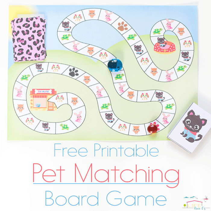 The perfect game for Littlest Pet Shop loving kids! This free printable pet matching game is so much fun!