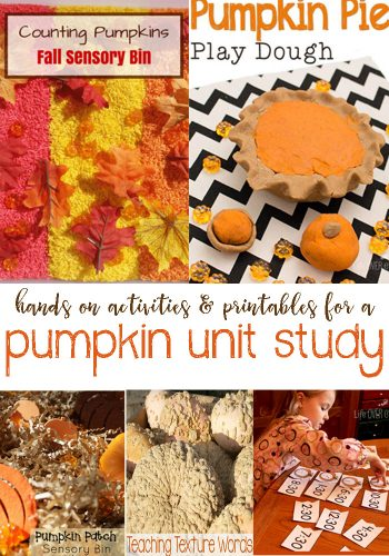 Resources To Help You Create A Fun Pumpkin Unit Study - Hands On Activities, Free Printables, and More.