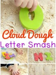 Cloud Dough Letter Smash: Exciting Literacy Fun!