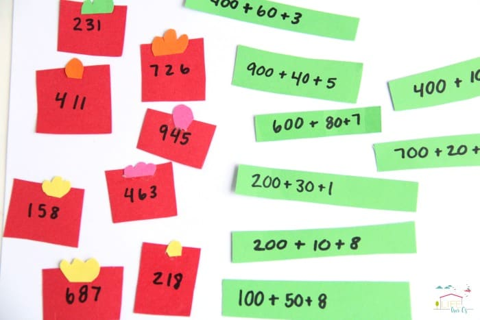 Expanded Form Math Christmas Activity and Craft