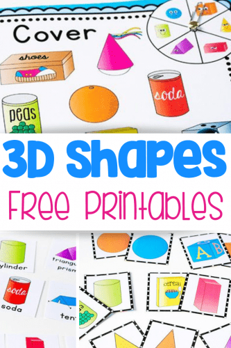 free printable 3D shape games for kindergarten matching game for shapes, create a sentence