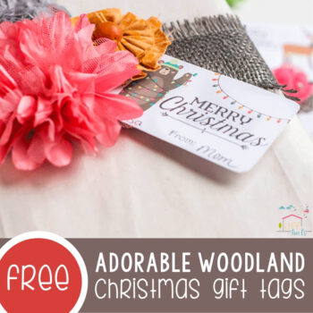 Adorable Woodland Christmas Gift Tags Featured Square Image