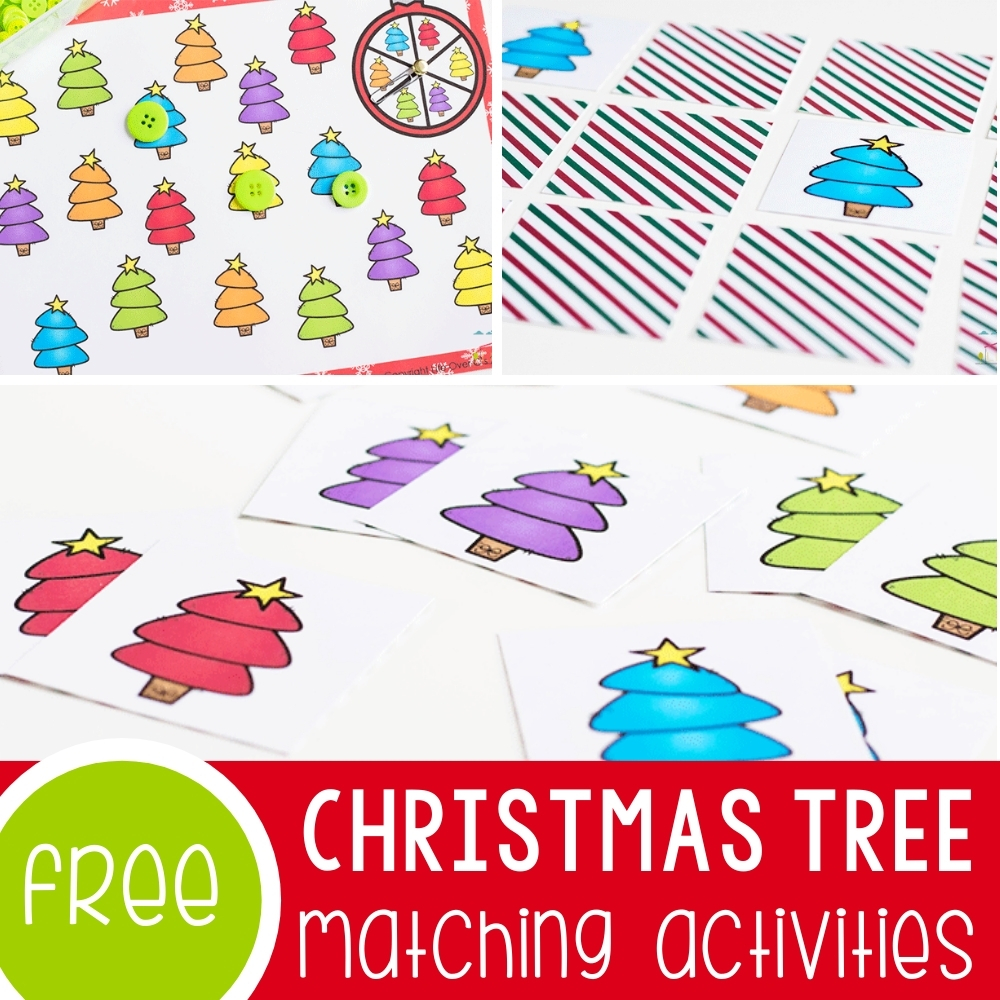 Christmas Tree Matching Activities Featured Square Image