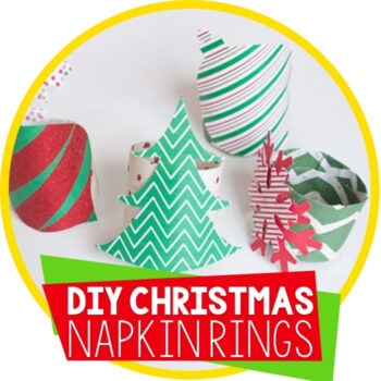 Easy DIY Christmas Napkin Rings Featured Image