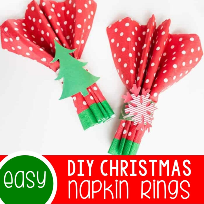 Easy DIY Christmas Napkin Rings Featured Square Image
