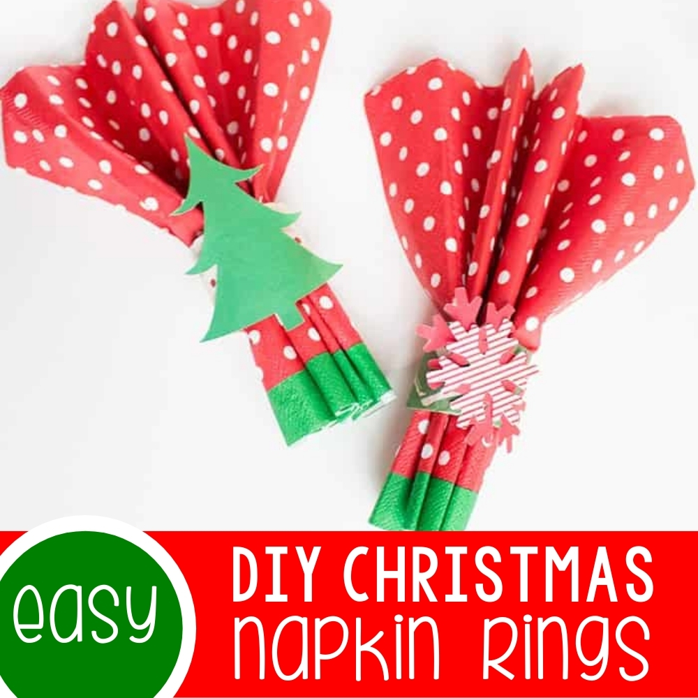 Easy DIY Christmas Napkin Rings